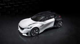 peugeot, fractal, concept, top view - wallpapers, picture