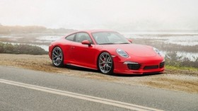 porsche, 911, carrera 4s, red, side view - wallpapers, picture