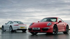 porsche, 911, carrera, 991, white - wallpapers, picture