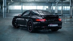 porsche, 911, carrera, black, side view - wallpapers, picture