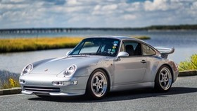 porsche 911, carrera, gray, side view - wallpapers, picture