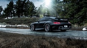 porsche, 911, carrera, turbo, side view, black - wallpapers, picture