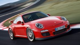 porsche, 911, gt3, 997, red, side view - wallpapers, picture