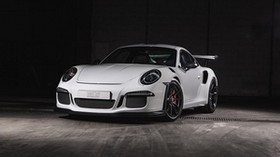 porsche, 911, gt3, white, front view - wallpapers, picture