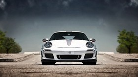 porsche, 911, gt3, rs 4 0, 997, white, porsche, white, sky - wallpapers, picture