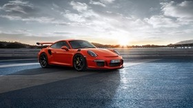porsche, 911, gt3rs, side view, red - wallpapers, picture