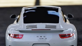 porsche 911 turbo s, porsche 911, porsche, sports car, rear view - wallpapers, picture