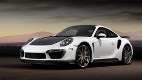 porsche, 911, turbo, stinger, gtr, white, black, side view - wallpapers, picture
