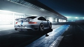 porsche, 911, turbo, rear view - wallpapers, picture