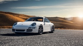 porsche 997, carrera s, white, side view - wallpapers, picture