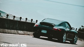 porsche 997 carrera s, porsche, side view, style, black - wallpapers, picture
