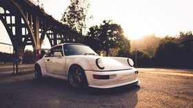porsche, auto, white, vintage - wallpapers, picture