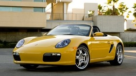 porsche boxster 2008, porsche, yellow, convertible - wallpapers, picture