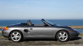 porsche boxster, porsche, silver, convertible - wallpapers, picture