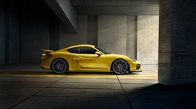 porsche, cayman, gt4, yellow, 2015 - wallpapers, picture