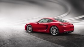 porsche, cayman, gts, red, side view - wallpapers, picture