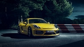 porsche cayman, sports car, yellow - wallpapers, picture