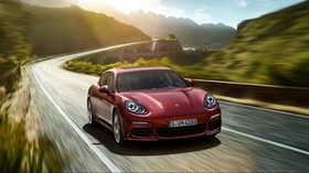 porsche, panamera, movement, auto, turn - wallpapers, picture
