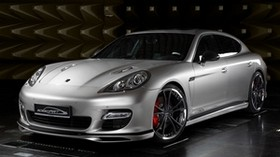 porsche, panamera, front view, silver - wallpapers, picture