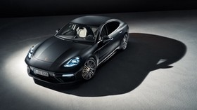 porsche, panamera, front view, shadow - wallpapers, picture