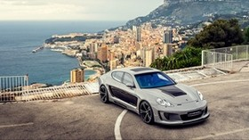 porsche, panamera, top view, car - wallpapers, picture