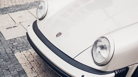 porsche, front bumper, headlights, logo - wallpapers, picture