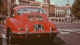 porsche, retro, car, red, italy, verona - wallpapers, picture