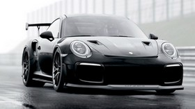 porsche, sports car, car, black, racing - wallpapers, picture