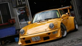 porsche, yellow, turbo, martini, 911 - wallpapers, picture