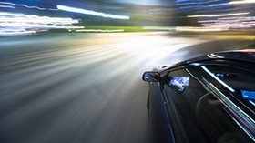 turn, car, motion blur, night - wallpapers, picture