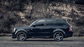 range rover, black, side view - wallpapers, picture