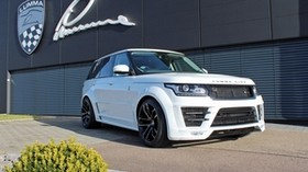 range rover, l405, white, side view - wallpapers, picture