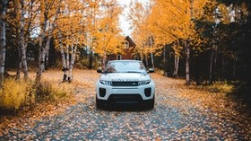 range rover, land rover, SUV, autumn, front view - wallpapers, picture