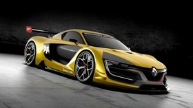 renault sport, rs 01, yellow, concept, side view - wallpapers, picture