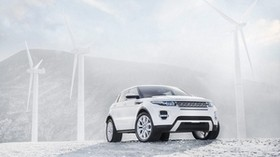 range rover, white, windmills, SUV, jeep, land rover - wallpapers, picture