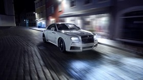 rolls-royce, spofec, white, side view, motion - wallpapers, picture