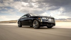 rolls-royce, wraith, movement, side view - wallpapers, picture