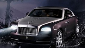 rolls-royce, wraith, rolls-royce wraith 2013, front view, night - wallpapers, picture