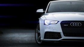 rs5, audi, white, front view - wallpapers, picture