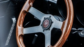 steering wheel, wooden, car, salon - wallpapers, picture