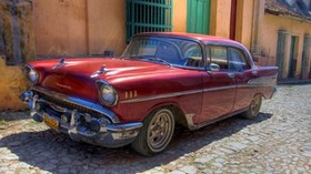 chevrolet, old, retro, car, machine, cuba, havana - wallpapers, picture