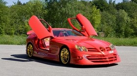 slr mclaren, 999, 2011, mercedes-benz, red gold dream ueli anliker - wallpapers, picture