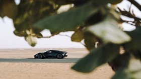 sports car, car, sand, branches, leaves - wallpapers, picture