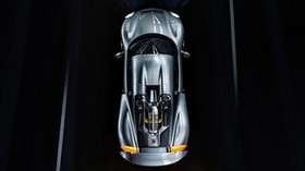 sports car, car, gray, top view - wallpapers, picture