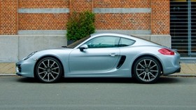 sports car, silver, side view - wallpapers, picture