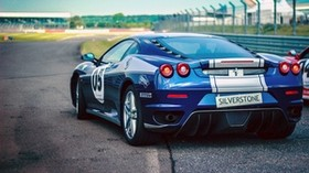 sports car, side view, blue - wallpapers, picture