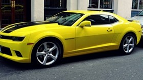 sports car, yellow, side view - wallpapers, picture
