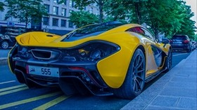 sports car, yellow, side view, luxurious - wallpapers, picture