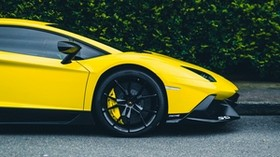 sports car, yellow, side view, wheel, power, speed - wallpapers, picture