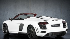 spyder, mansory, white, auto, rear view, r8 - wallpapers, picture